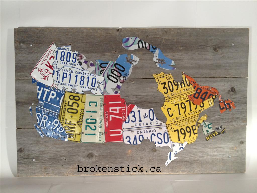 License Plate Map Of Canada brokenstick.ca   license plate products